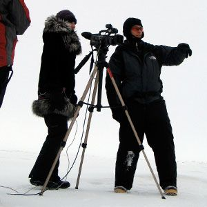 Filming a documentary in Barrow, Alaska